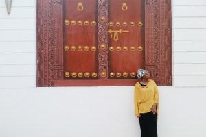 Mural of Door Frame in Stone Town, Zanzibar