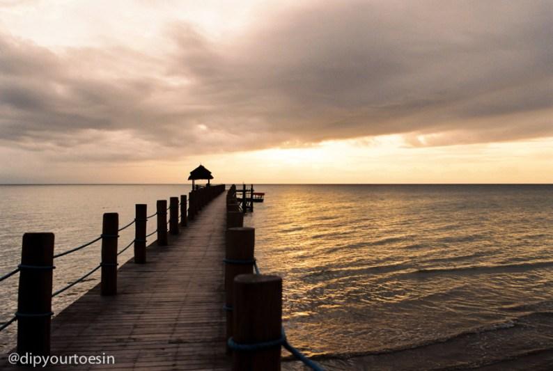 Jetty sunset view at Zanzi Resort Zanzibar