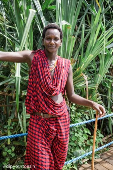 Luxury villa Zanzi Resort Maasai warrior