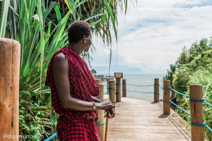 Luxury villa Zanzi Resort Maasai warrior