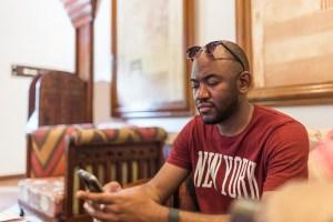 HDYTI checking emails in Zanzibar | via @dipyourtoesin