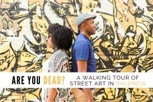 Omo & Eulanda in front of Fasim - Stop Victims of Wars Wall   Street art tour   Valencia Urban Adventures, Spain