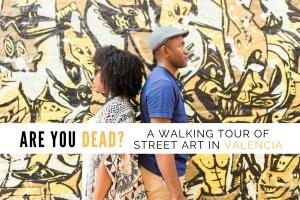 Omo & Eulanda in front of Fasim - Stop Victims of Wars Wall | Street art tour | Valencia Urban Adventures, Spain