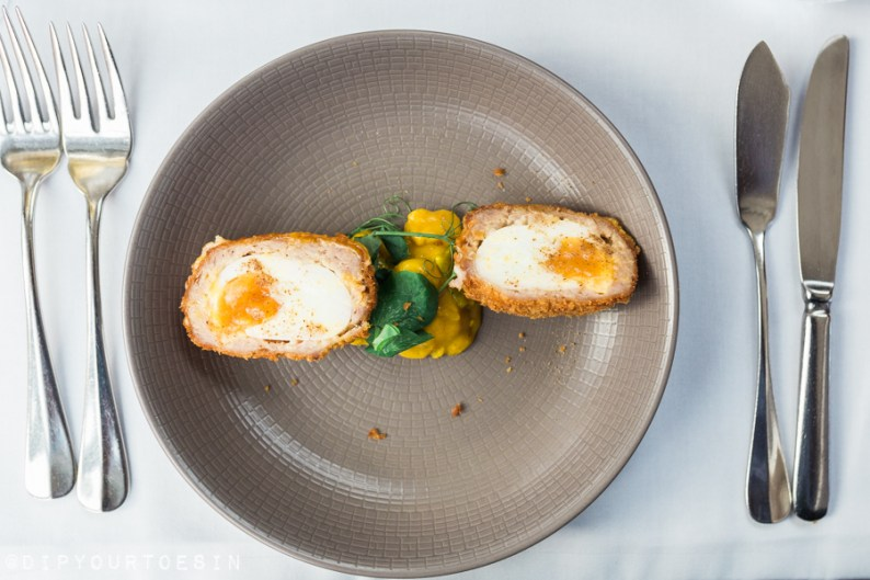 Chorizo Scotch Egg at Roast in London, UK | 10 Global Stops for the Foodie Traveller