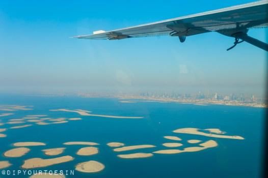 World Islands in Dubai from Seawings Seaplane