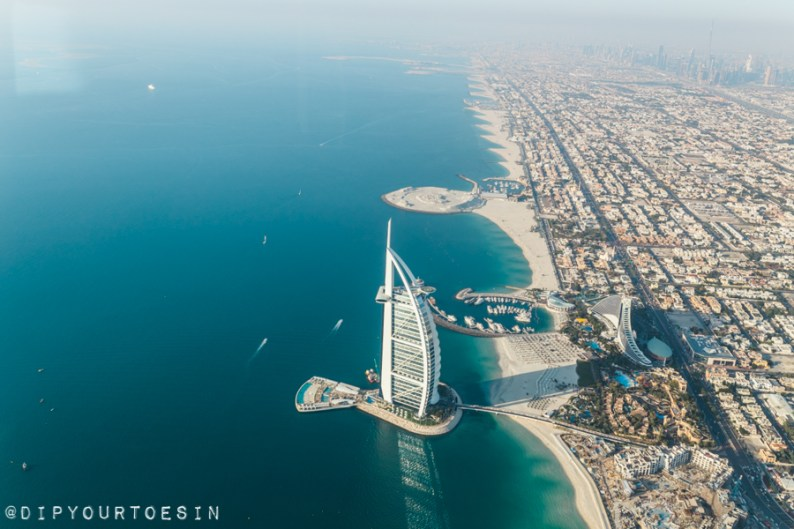 Burj Al Arab from Seawings Seaplane