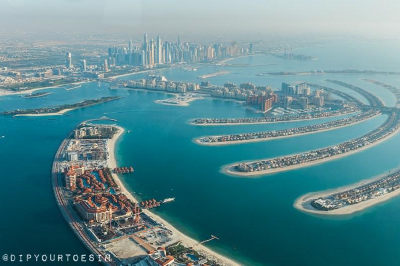 Burj Al Arab from Seawings Seaplane