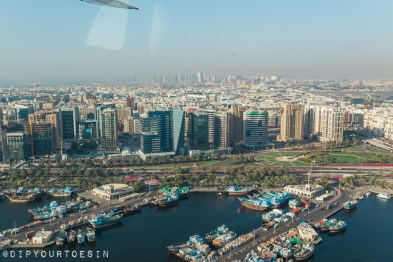 View of 'new' Dubai from Seawings Seaplane