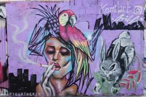 Valencia | Collaborative mural by Atila_the bum and Kemilart