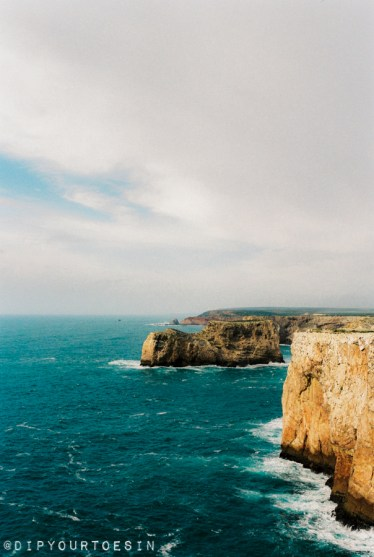 View of coastline from Cape of St. Vincent, Algarve, Europe's southwestern most point