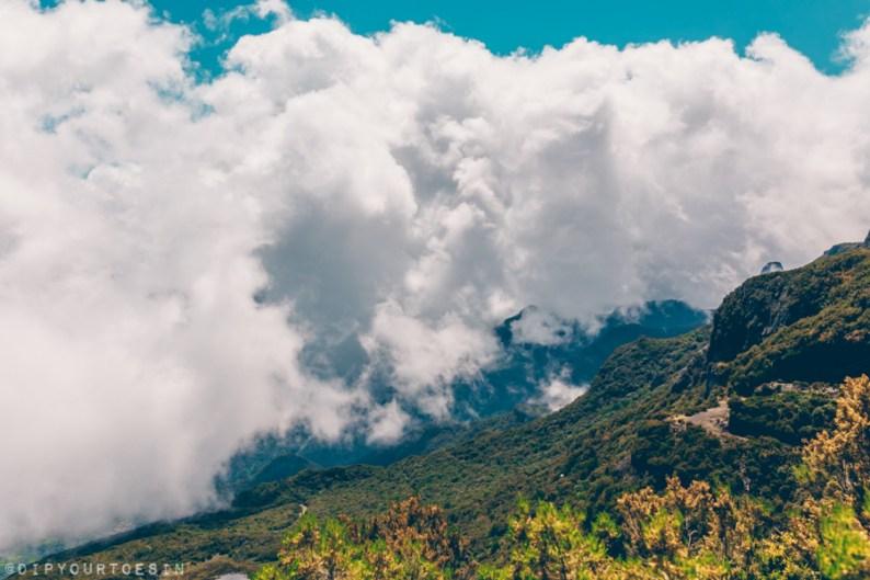 View of Pico Ruivo with Green Devil Safari, Madeira