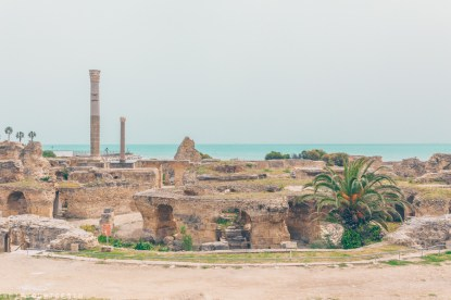 The Baths of Antoninus, Baths of Carthage, Tunis