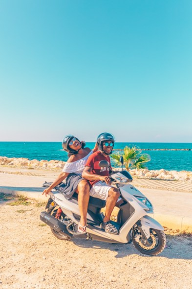 Moped in Polis, Cyprus
