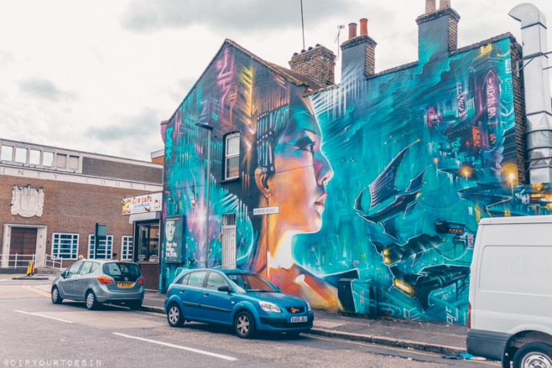 Street art near Roomzzz Stratford | East London