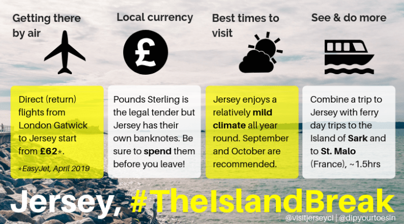 Infographic Jersey The Island Break #TheIslandBreak | Channel Islands