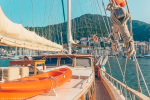 View of Fethiye from onboard the Nemesis yacht