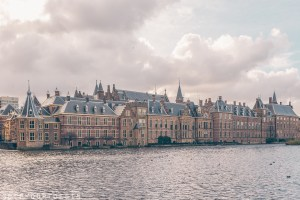 Parliament building in the Hague