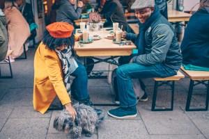Sitting at Hamburg cafe | Hamburg photo journal