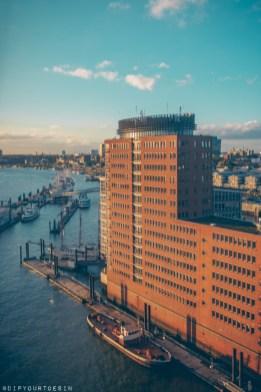 Hamburg harbour view from Elphilarmonie