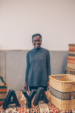 Ajuwa of Aya Crafts Market selling in Hamburg