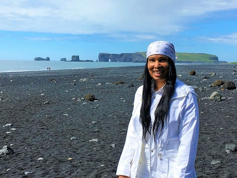 Woni Spotts Iceland   First Black Woman to Travel To Every Country in the World