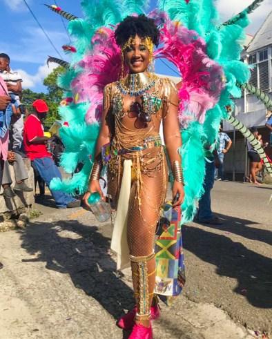 #HotGirlSummer in Antigua - Celene Senhouse plays Carnival