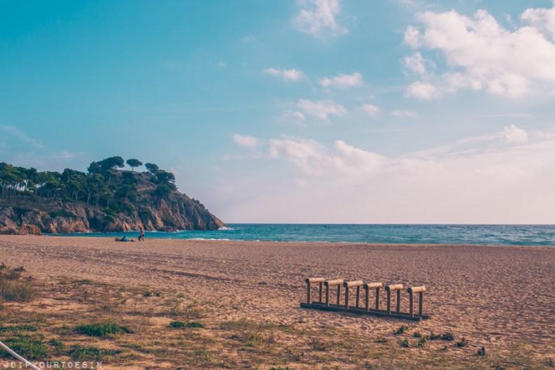View of Platja de Castell beach, Palamós, Costa Brava