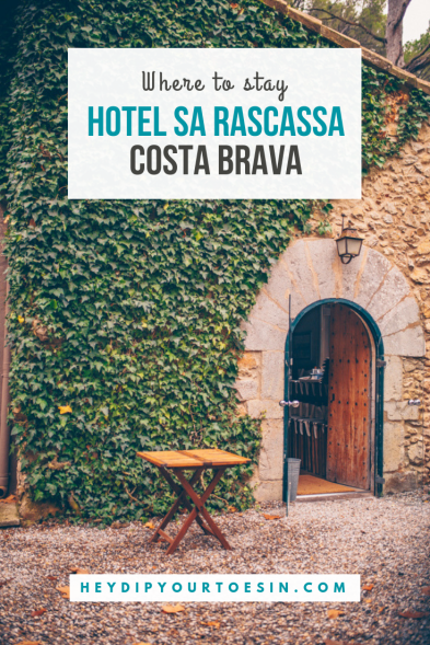 Pinterest image for Where to stay in Costa Brava | Hotel Sa Rascassa