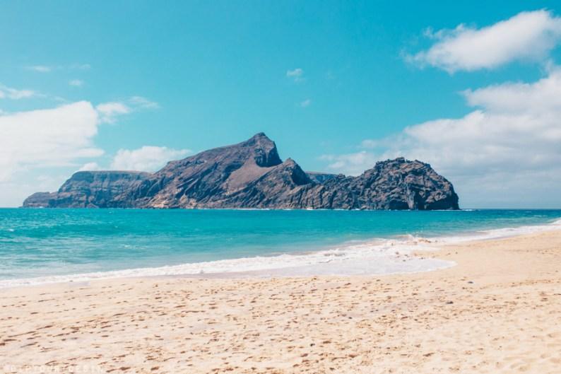 View of Ilhéu da Cal islet in Porto Santo Island