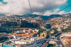 View of Funchal from Cable Car | TAP Air Portugal flies to Funchal