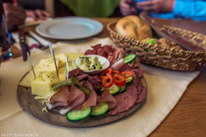 Organic food in Dorfladen, organic farm cafe with local produce in Leogang, Austria
