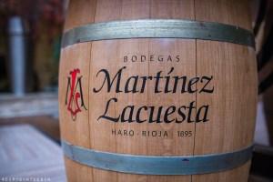 Wine barrel of Bodegas Martinez Lacuesta, Haro, Rioja