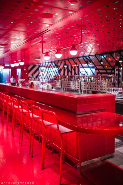 Razzle Dazzle bar on Scarlet Lady by Virgin Voyages