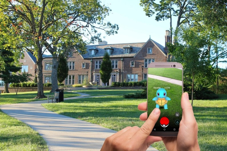 Augmented Reality Travel Experiences Example with the Pokémon Go mobile app