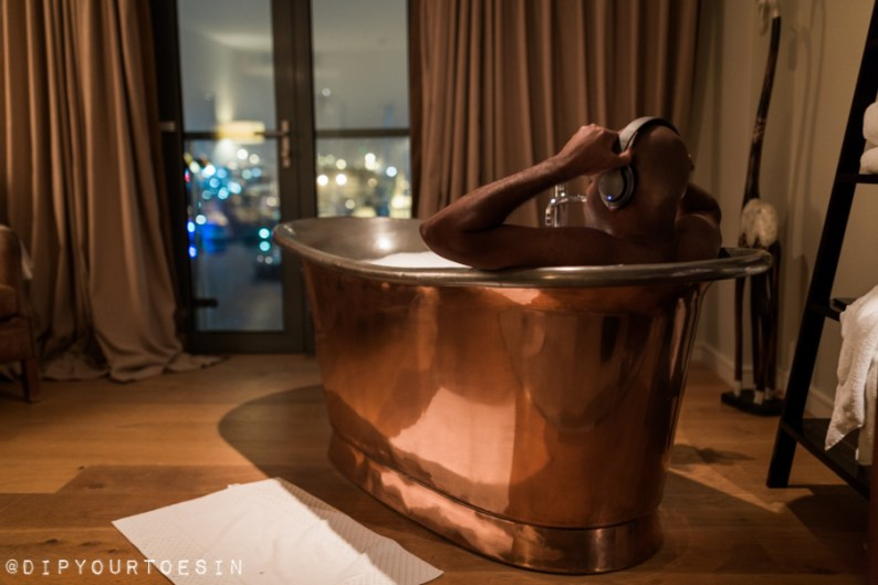 View of Copper bathtub in Salthouse Harbour Hotel, Ipswich | Why I Spent My Summer in a Bathtub Somewhere in Britain