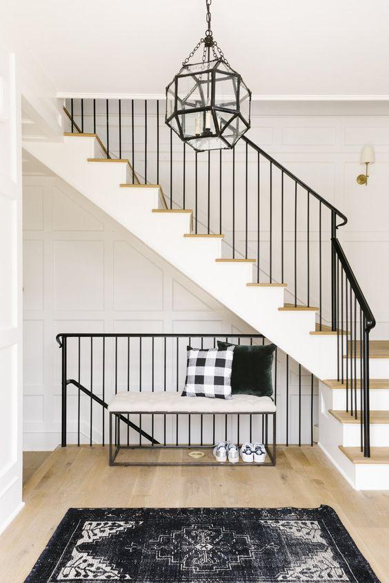 Modern Farmhouse Staircase Ideas : modern, farmhouse, staircase, ideas, RE-CREATE, LOOK:, MODERN, FARMHOUSE, STAIRCASE, IDEAS, YOU'LL, Djangles.