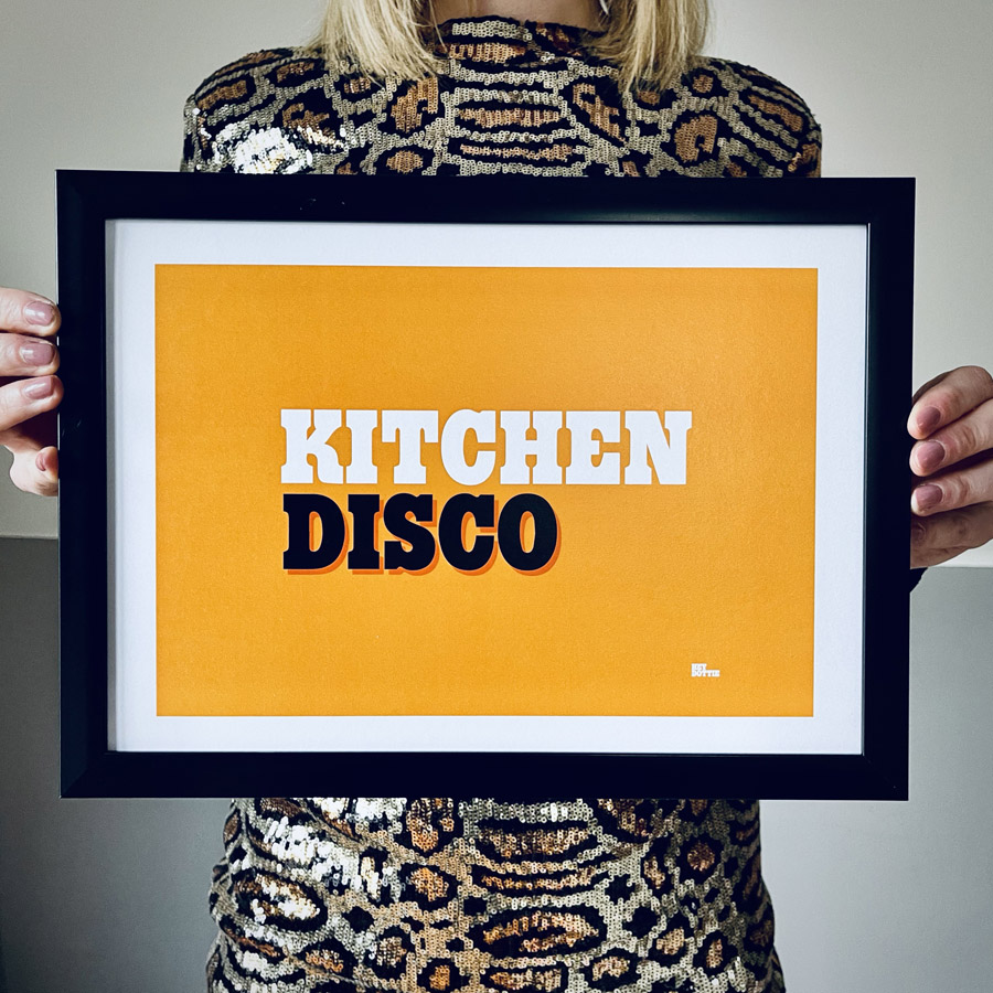 Kitchen Disco A4 Print