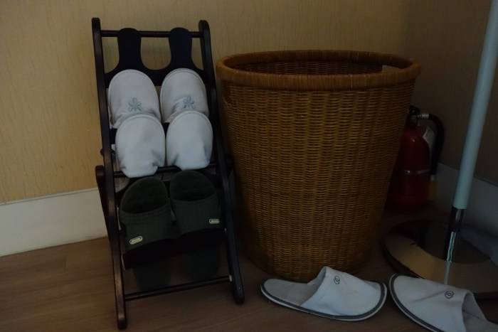 the slipper rack in our labor and delivery room.