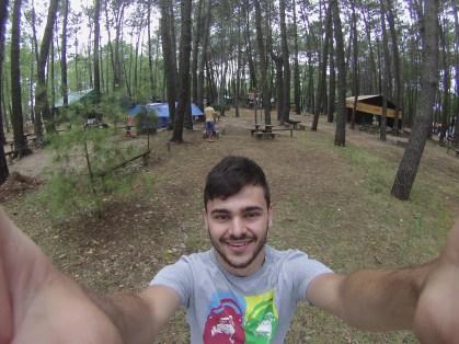 Camping slackline