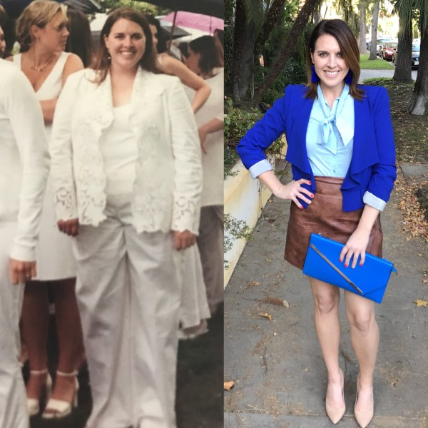 Sarah before and after weight loss