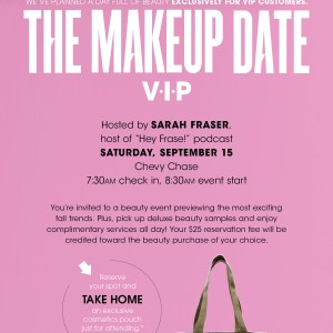 The makeup date! Bloomingdales Chevy Chase