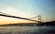 Bosphorus bridge, connecting Europe and Asia