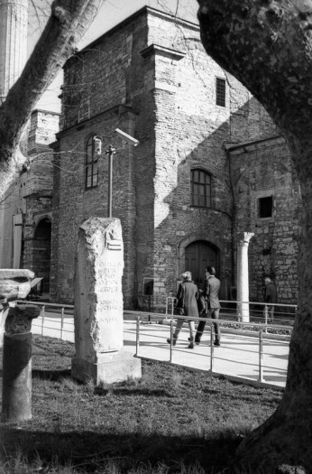 Pillars from the remnants of the church