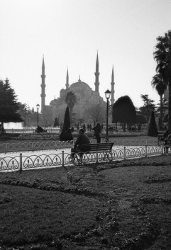 Blue Mosque, seen from the park near Hagia Sophia