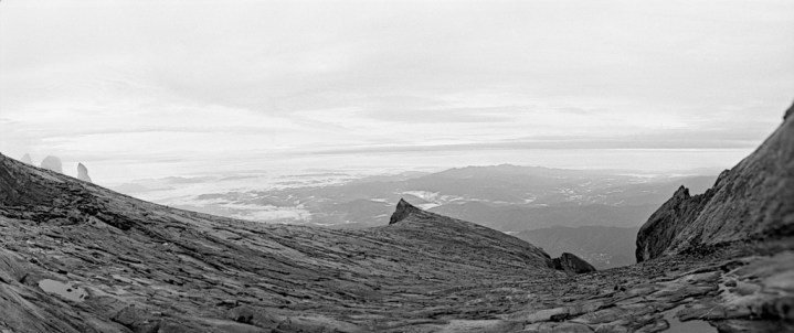 South Peak (center), Donkey Ears Peak (left)