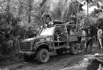 Loading equipments at Baraka basecamp
