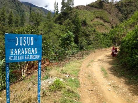 Entering Karangan Village
