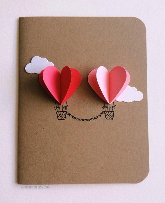 valentines day, dia dos namorados, cartão, amor, diy, balões de ar, coração, formato de coração, ideias, artesanato, ideias fofas