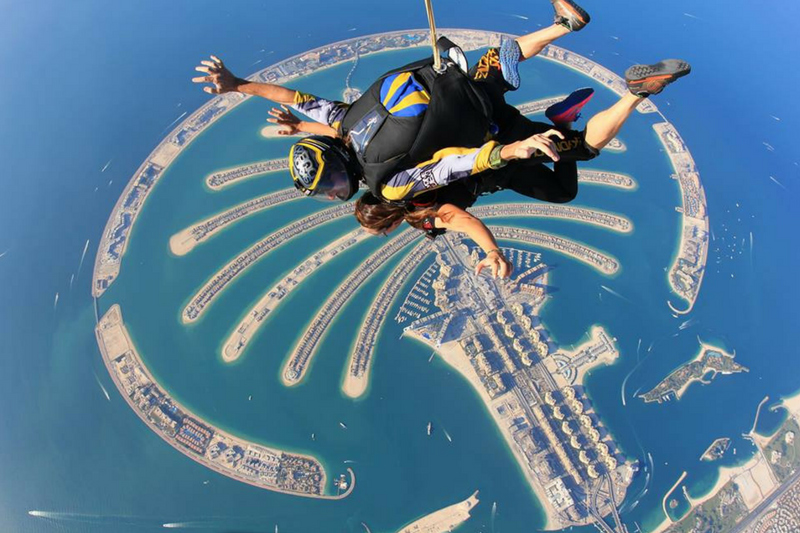dubai attractions, dubai tourist guide, Dubai parks, Dubai, travel, what to do in Dubai, visit dubai, skydive dubai, the palm jumeirah, desert campus, free fall in dubai,