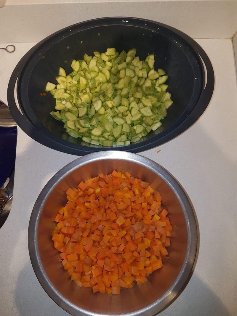 Abobrinha e cenoura – Alimentação Natural para cachorros